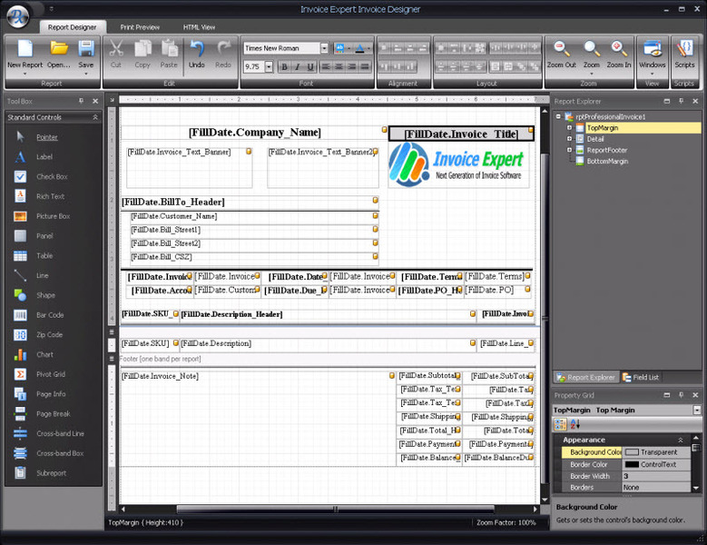 Click to view Invoice Expert 4.28 screenshot