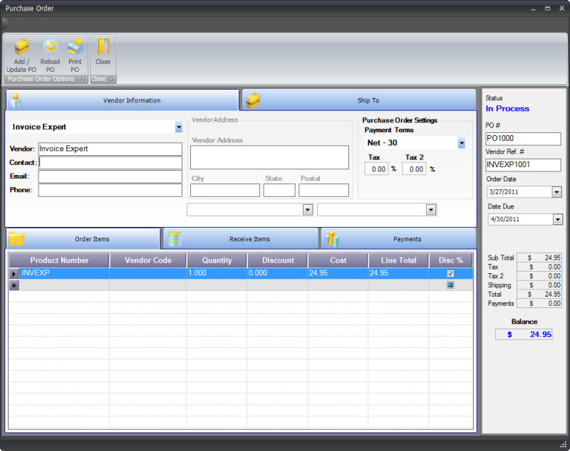 Generic Invoice Template Excel Purchase Order Management Software No Gst Invoice with Invoices And Estimates Software Excel Open Purchase Order List Order Products  Free Downloadable Invoice Template For Word Excel
